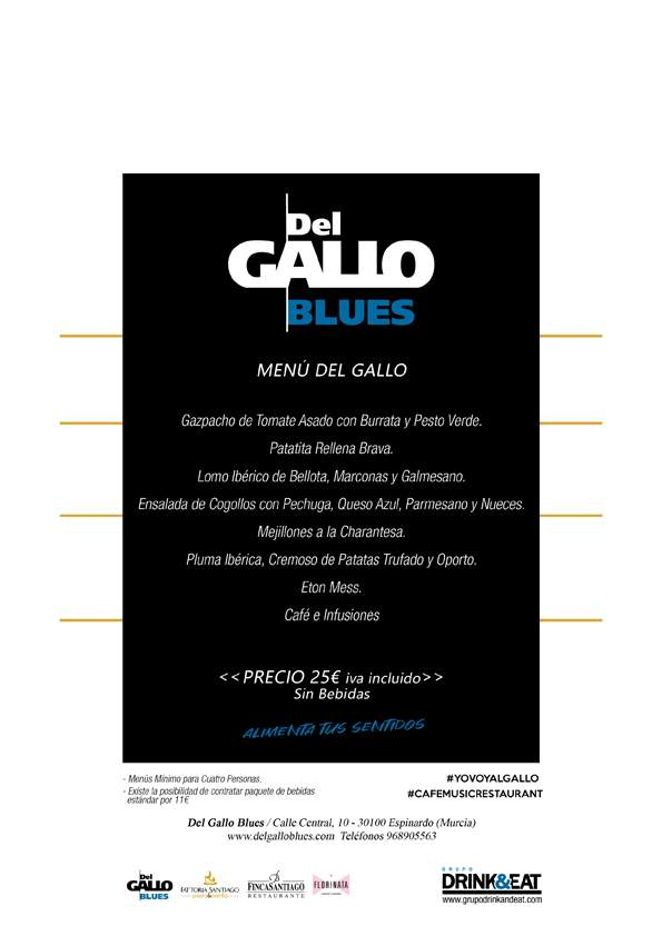 2 menu del gallo